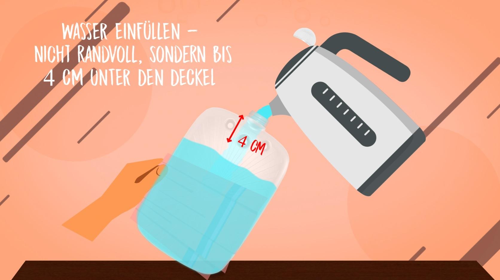 Kinder Öko-Wärmflasche Sweatbezug Lachgeister