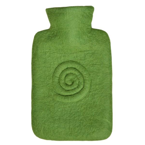 Wärmflasche Klassik Filzbezug Spirale Kiwi