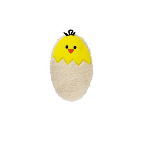 Mini-Wärmflasche 0,2 L mit Flauschbezug Ei