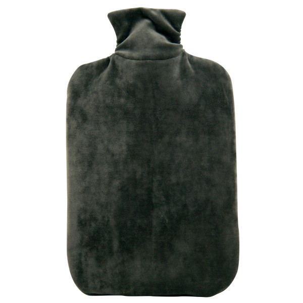 Öko-Wärmflasche Nickibezug luna grau