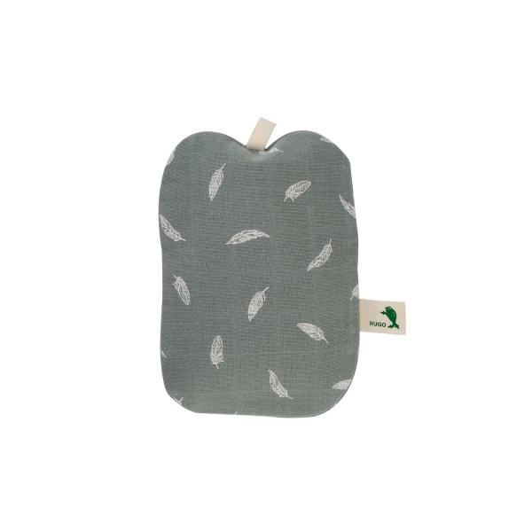 Mini-Wärmflasche Bio-Baumwollbezug Feder pastellgrün