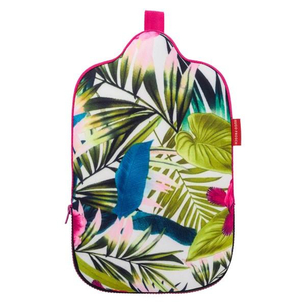 Öko-Wärmflasche 2,0 L mit Neoprenbezug Dschungel
