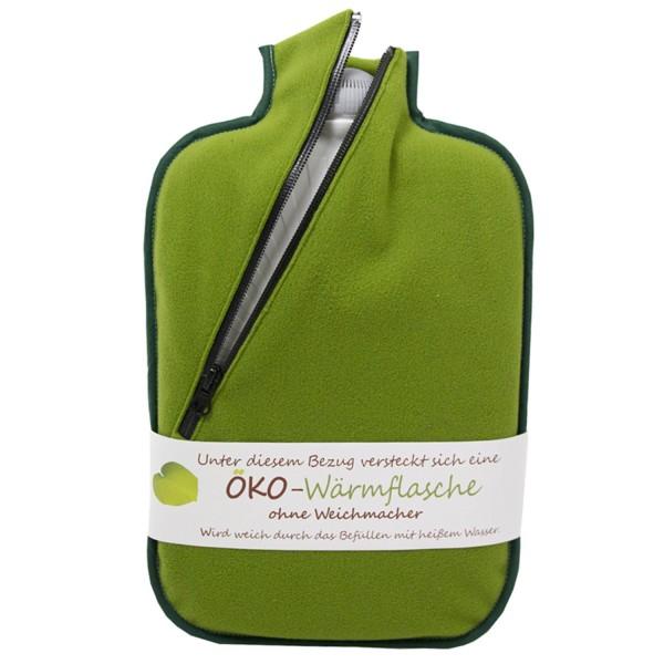 Öko-Wärmflasche 2,0 L mit Softshell-Bezug bambus