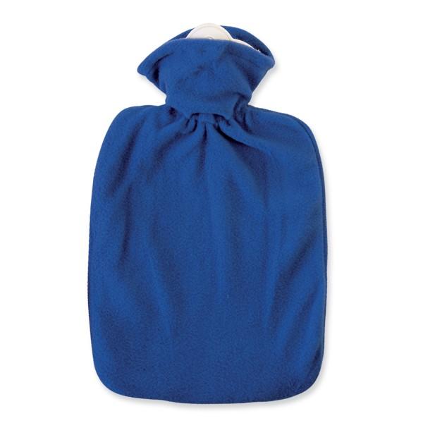 Wärmflasche Klassik Fleecebezug blau