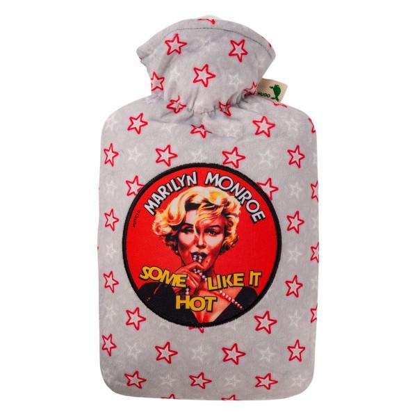 "Wärmflasche mit Klassik 1,8 l Nickibezug ""Movie"" Marilyn Monroe"