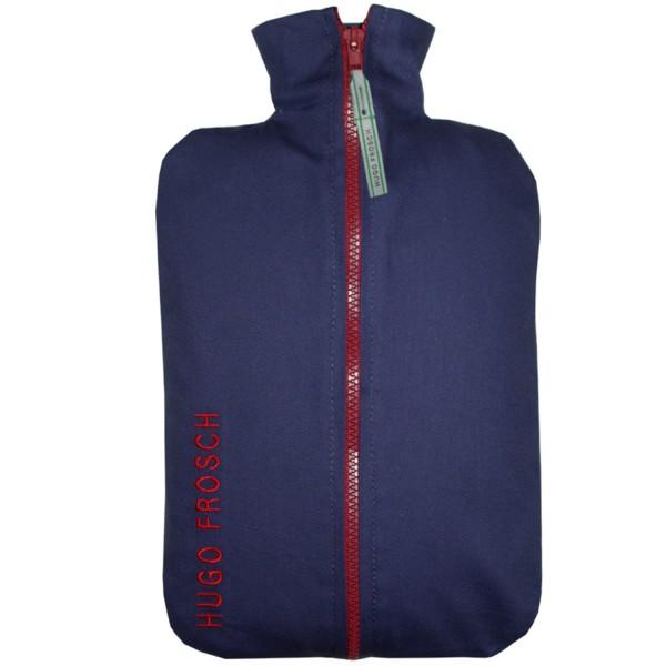 Öko-Wärmflasche 2,0 l mit Jeansbezug blau