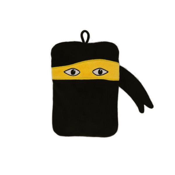 Mini-Wärmflasche mit Veloursbezug Ninja