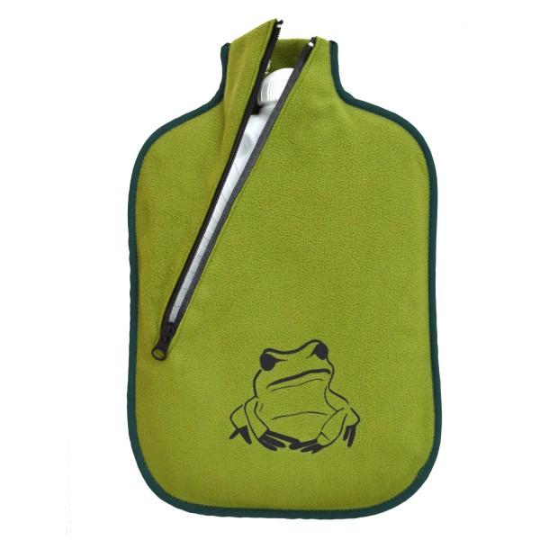 Öko-Wärmflasche Softshell bambus Frosch-Design