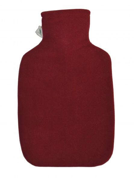Wärmflasche Klassik Fleecebezug dunkelrot