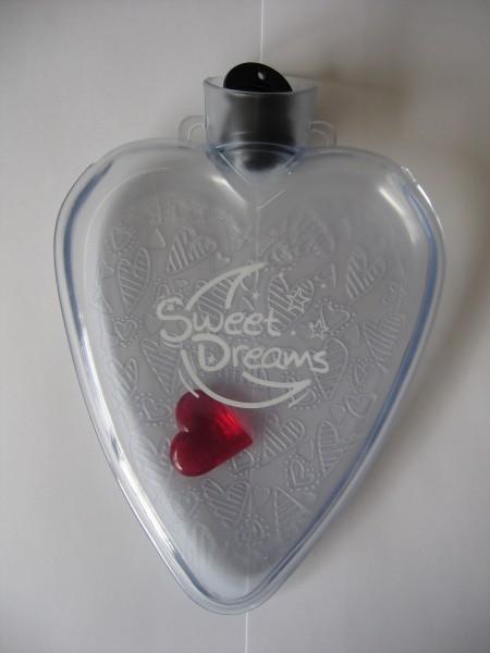 0,4l Herz Wärmflasche transparent ohne Aufdruck