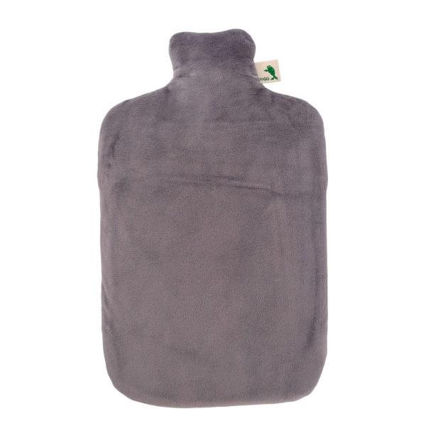 Öko-Wärmflasche 2,0 l mit Nickibezug luna grau