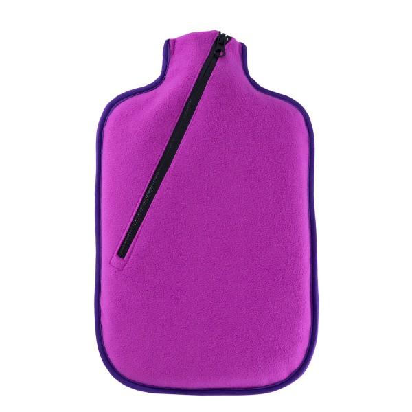 Öko-Wärmflasche 2,0 L mit Softshell-Bezug beere