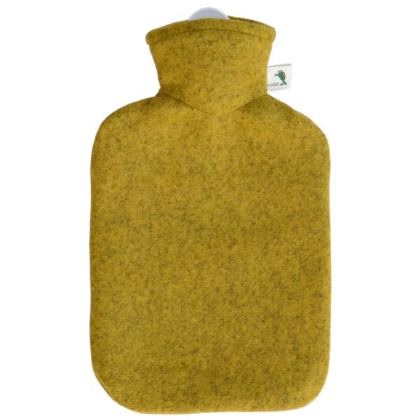 Wärmflasche Klassik Strickbezug Filzoptik Mango-melange