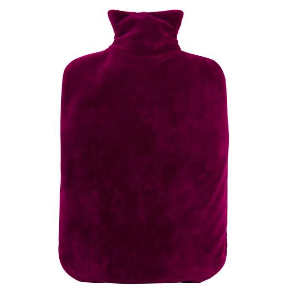 Öko-Wärmflasche Nickibezug purpur violett