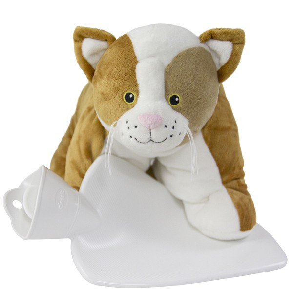 Wärmflasche Kuscheltier Katze