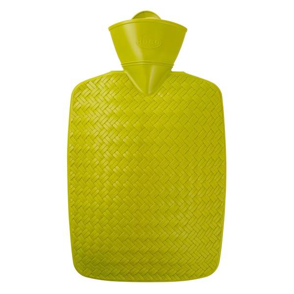 Wärmflasche Klassik 1,8 l Geflecht Limone