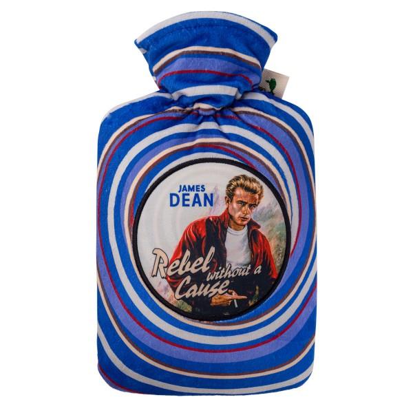 """Wärmflasche mit Klassik 1,8 L Nickibezug """"Movie"""" James Dean"""