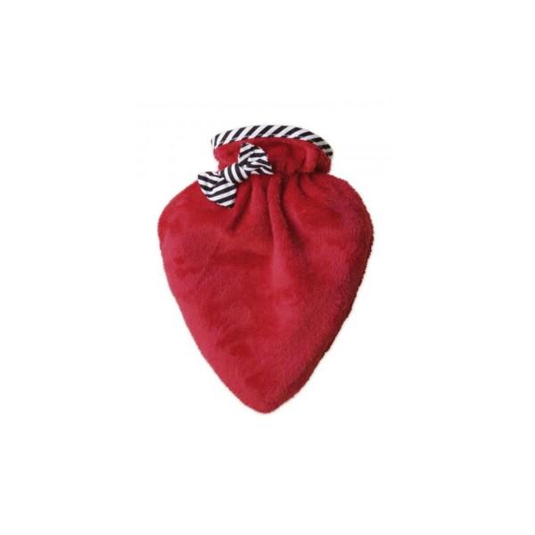 Wärmflasche Mini-Herz mit Bezug neutral
