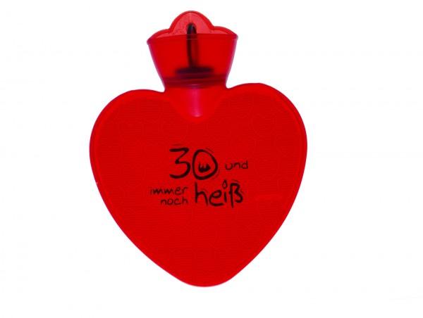 1,0l Herz Wärmflasche transparent rot ohne Aufdruck