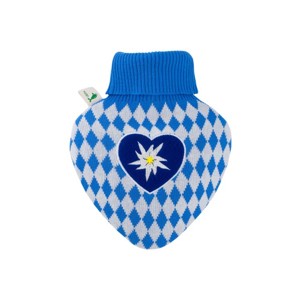 """Wärmflasche Herz mit Strickbezug """"Bavaria"""""""