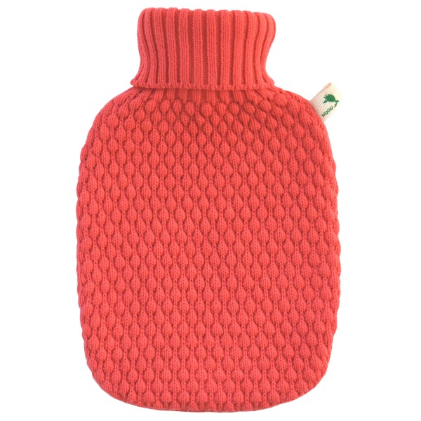 Wärmflasche Klassik Strickbezug Koralle