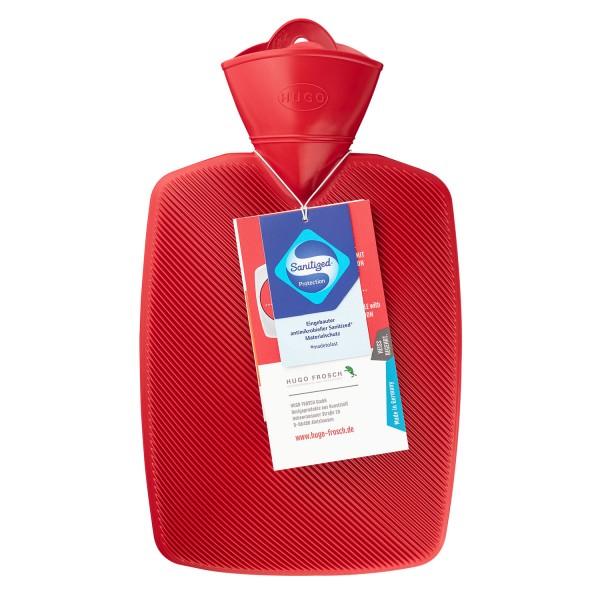 Wärmflasche Klassik 1,8 l Halblamelle Sanitized ® rot