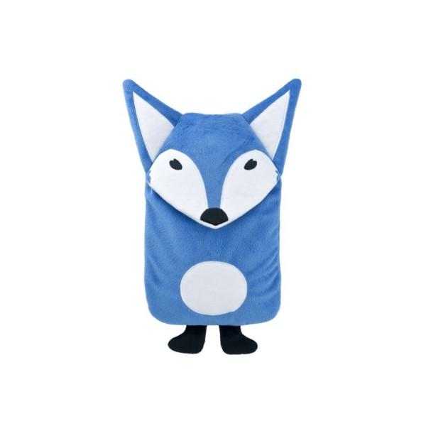 "Kinder Öko-Wärmflasche 0,8 L mit Bezug ""Herr Fuchs"" blau"