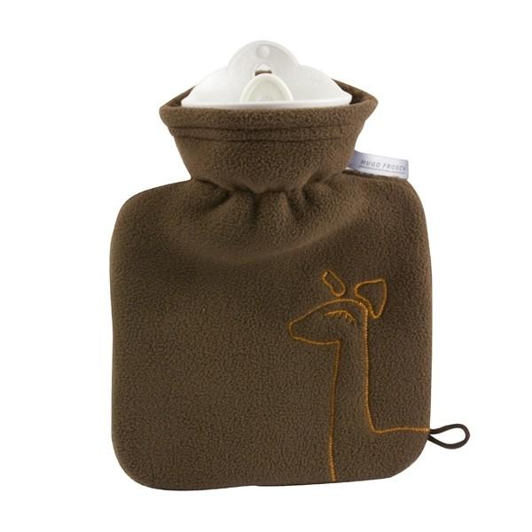 Kinder-Wärmflasche Bezug Fleece braun