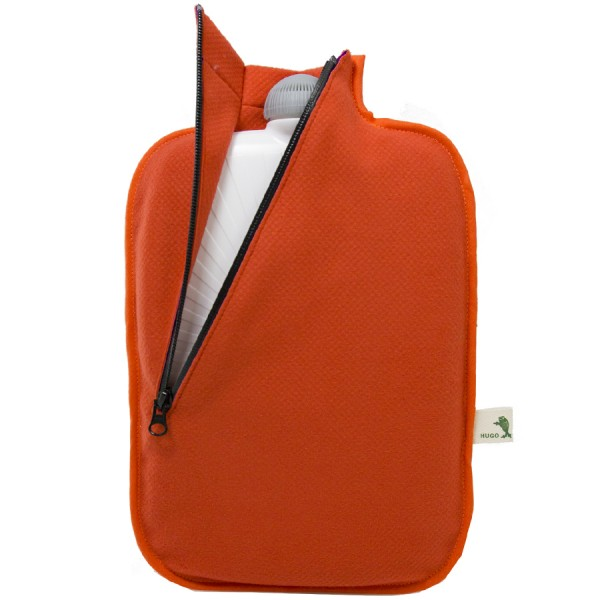 Öko-Wärmflasche Softshell orange