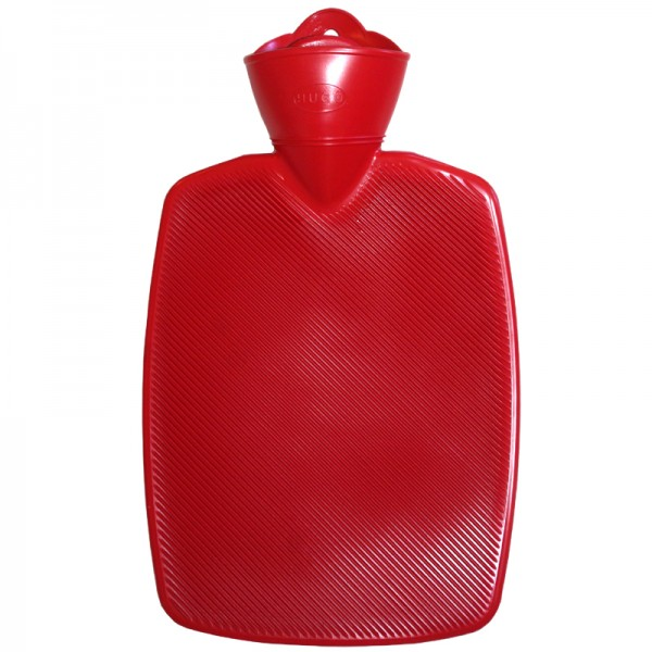 """Wärmflasche Klassik Halblamelle """"Hugo"""" rot"""