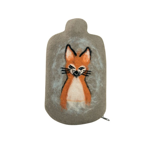 Kinder Öko-Wärmflasche Filzbezug Fuchs